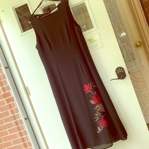 Valerie Stevens II Long Silk Chiffon Dress